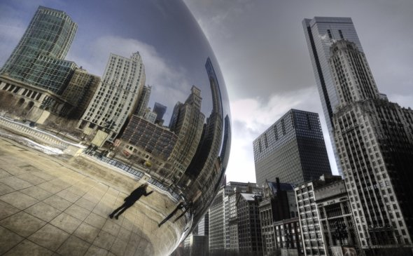 Cloud gate in Chicago - also known as the Bean