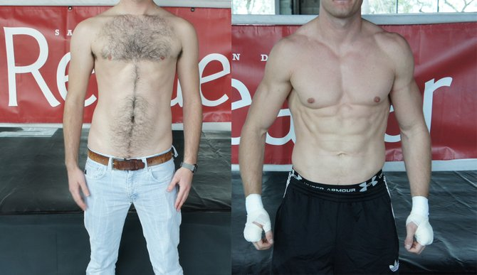 Reader Andy Before and After just one afternoon at this incredible gym! (Results not typical or possible).