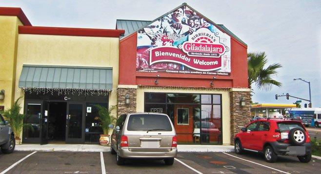 Birrieria La Guadalajara stands in a newish Chula Vista strip mall that seems to have no other tenants.