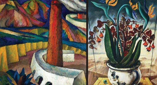 Above: Gabriel Fernández Ledesma's Industrial Landscape (1929); at right: Manuel González Serrano's Equilibrio (ca. 1944)