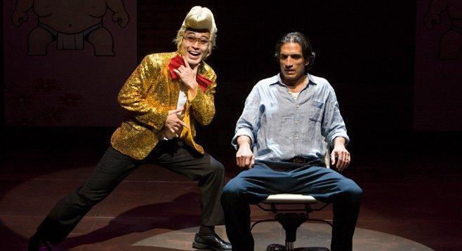 Daisuke Tsuji and René Millán rewrite history in La Jolla Playhouse's American Night, The Ballad of Juan José.