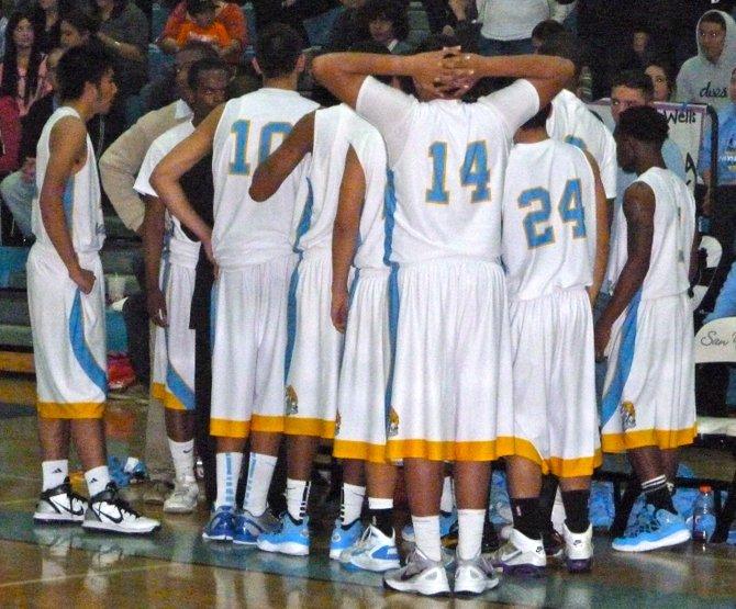 San Ysidro huddles up during a timeout