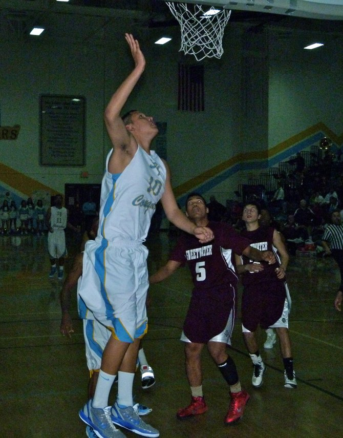 San Ysidro forward Fernando Ahumada puts up a layup in the paint