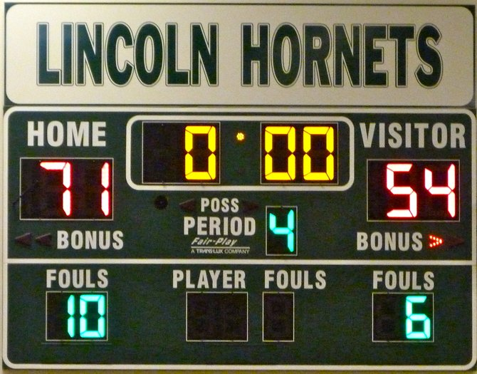 Final Score - Lincoln 71, Mission Bay 54