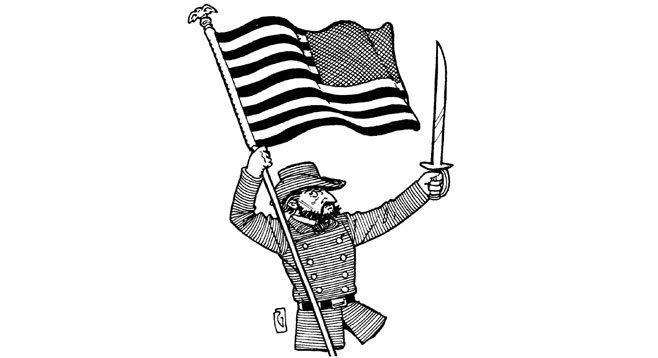 Backwards flag.