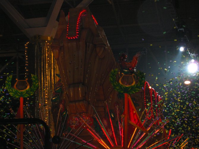 Float from the Orpheuscapade Ball XVI, hosted by the Krewe of Orpheus, Mardi Gras 2009.