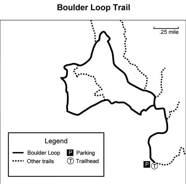Map of Boulder Loop Trail