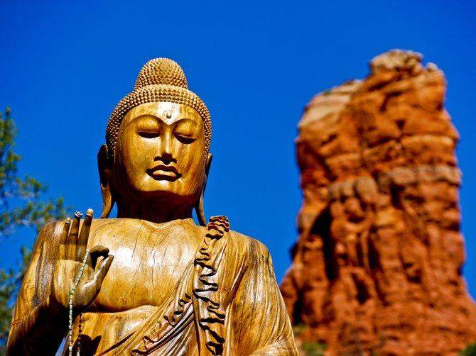 The Amitabha Stupa in Sedona, Arizona.