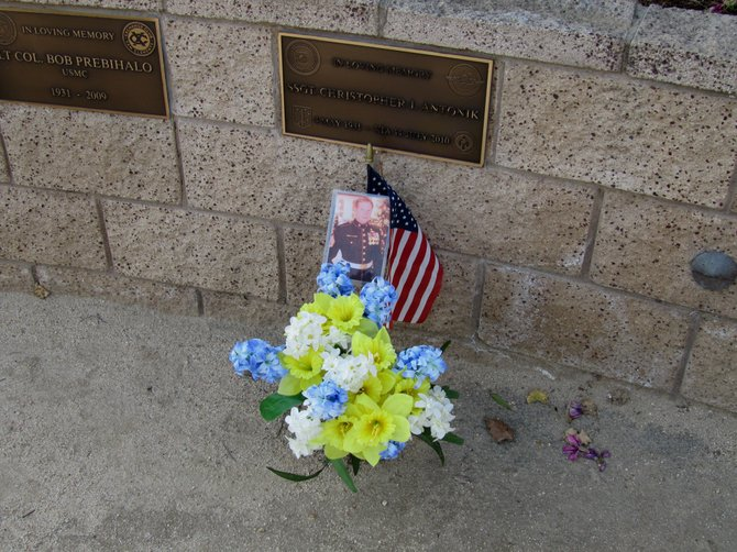 We'll Never Forget the Marines Killed in Afghanistan and Iraq - San Clemente Little Memorial on the beach...