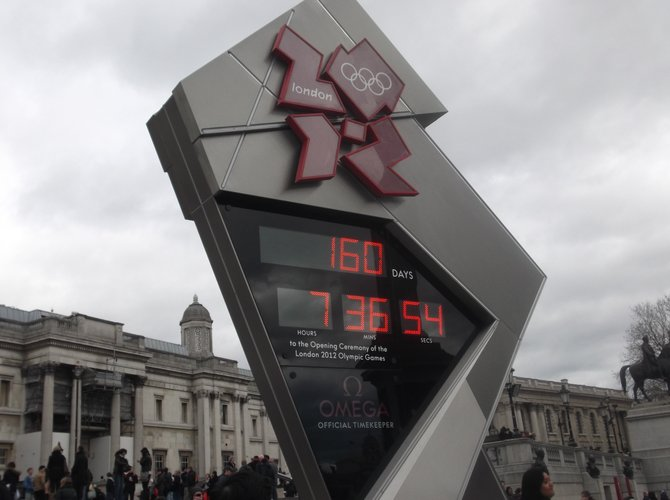 Olympics countdown clock, London England