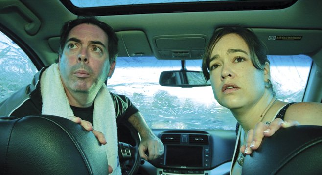 Michael Shutt and Sara Wagner get in your face for La Jolla Playhouse's Car Plays.