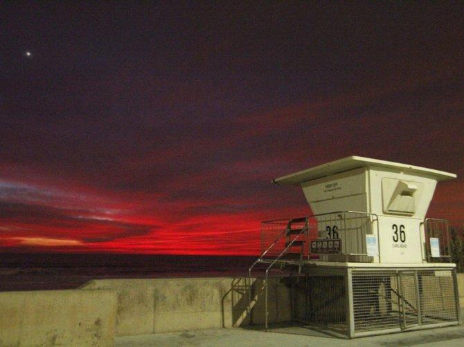 """""""Nightfall at Tower 36"""", Carlsbad, CA Photo: Brian Ribbey"""