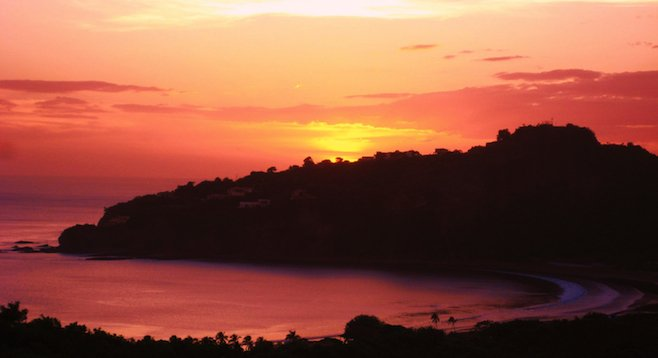 Picturesque San Juan del Sur at sunset