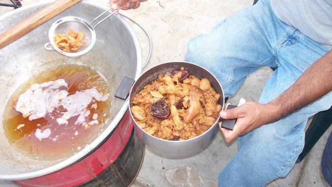 Homemade Chicharrón....en La Villa