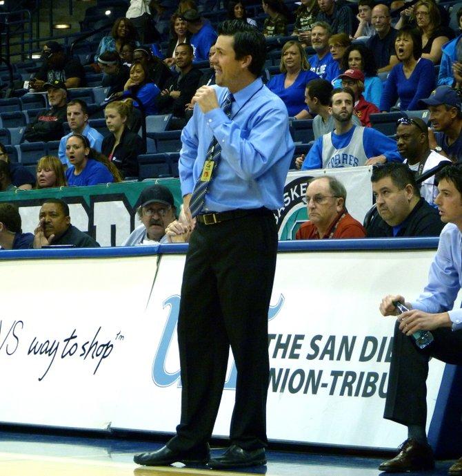 La Jolla Country Day head coach Ryan Meier