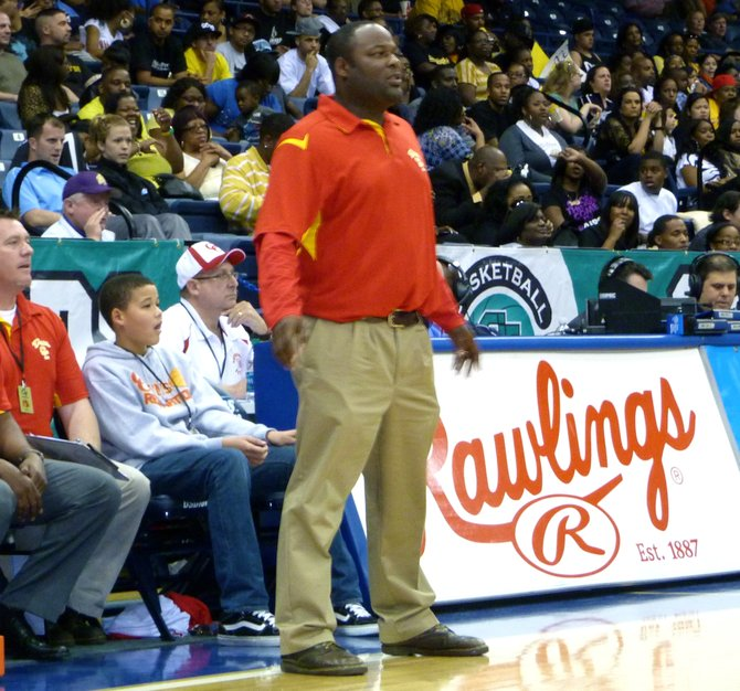 Cathedral Catholic head coach Will Cunningham looks on from the sidelines