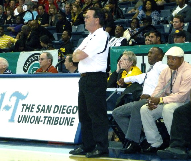 Mission Bay head coach Dennis Kane