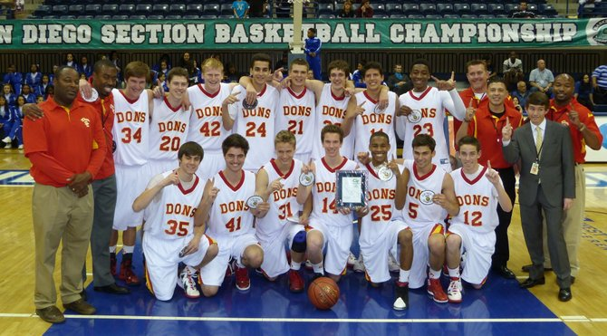 2012 Division III Champions - Cathedral Catholic Dons