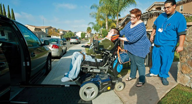 Raul Carranza, who suffers from muscular dystrophy, had to leave college when Medi-Cal cut his nursing coverage.