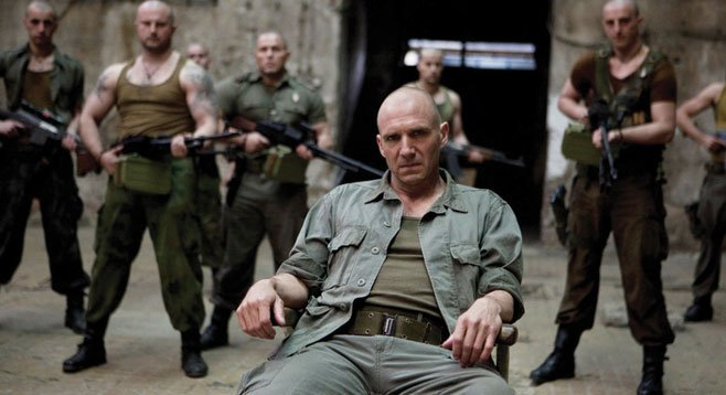 """Ralph Fiennes plays the creepy Shakespearean """"hero"""" Coriolanus in a modern vision of the Bard's play."""