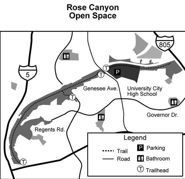 Rose Canyon Open Space Map
