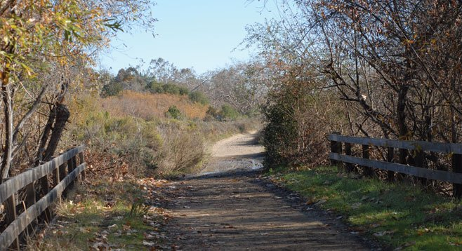 Leaving the riparian area and moving toward the chaparral area of the trail