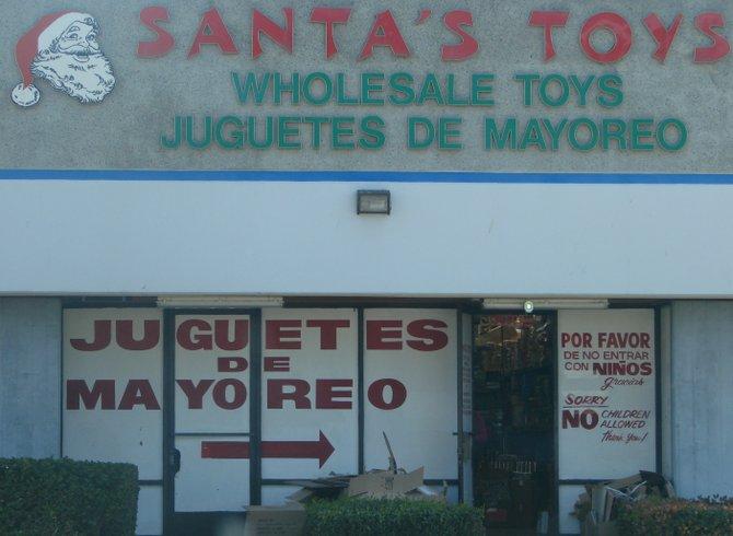 Santa doesn't like the kiddies in Chula Vista