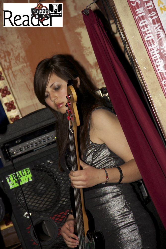 Diana, the bassist for Human Crossing.