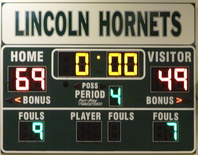 Final Score - Lincoln 69, Tulare Union 49