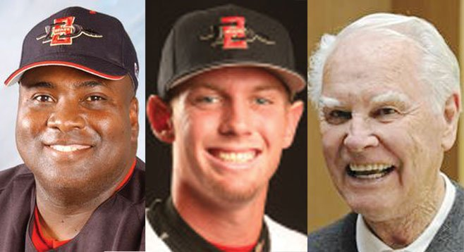Tony Gwynn, Stephen Strasburg, and Doug Harvey