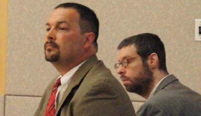 Defense attorney Daniel Segura (left) and Brendan O'Rourke. Photo by Bob Weatherston.