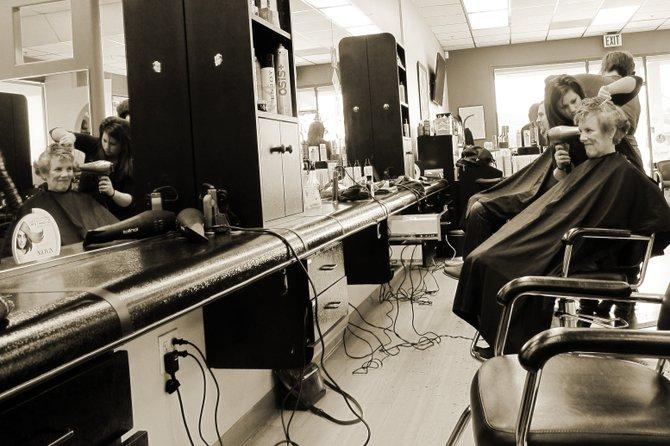 It's haircut day at HS Salon in Carmel Mountain.