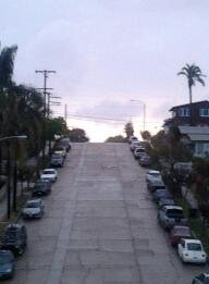 Looking up to 26th and E st.  In golden Hille San Diego Ca
