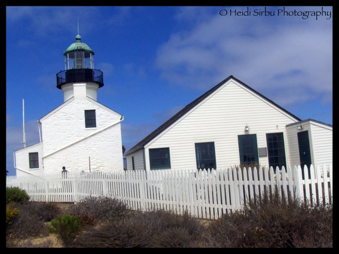 Clouds clearing away behind the Point Loma Lighthouse... blue skies ahead!