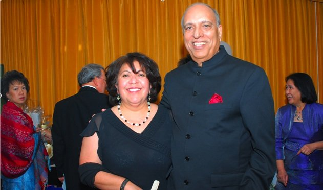 "Yolanda Salcido and Raj Chopra at a Southwestern ""gala"""