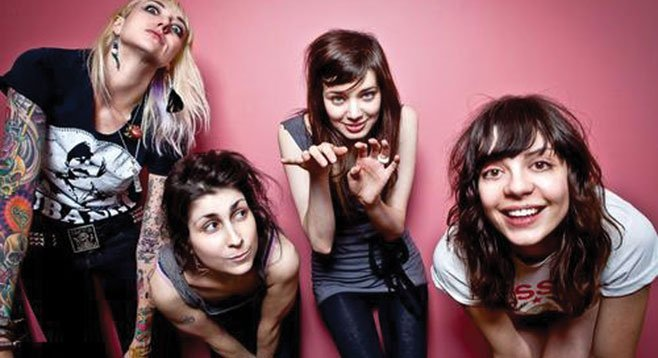 Atlanta band the Coathangers deliver Larceny & Old Lace to the Tin Can Thursday night.