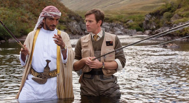 Searching souls find each other in director Lasse Halström's Salmon Fishing in the Yemen.
