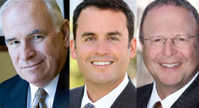 Hotshot California lobbyists Bob White, Craig Benedetto, and Ben Haddad are giving to San Diego candidates.
