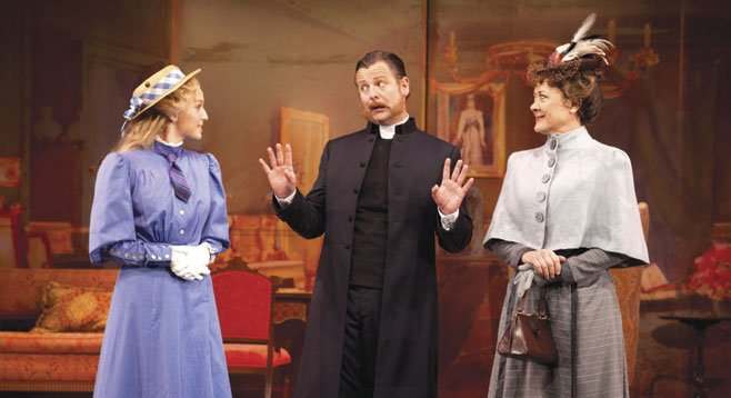Ephie Aardema plays Lucy Honeychurch, Edward Staudenmayer is Reverend Mr. Beeber, and Karen Ziemba is Charlotte Bartlett in the Old Globe's world priemere musical A Room with a View.