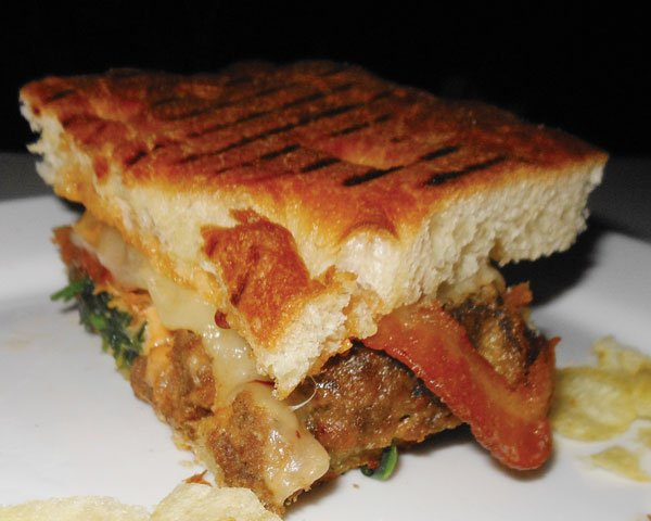 The meatloaf and bacon panini was great. Like a patty melt.