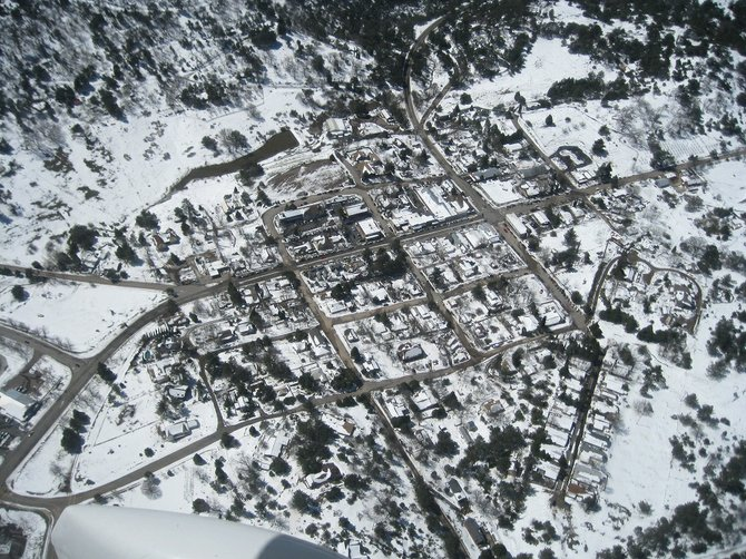 Tuesday at noon, 3/20, from 6,500' above town.