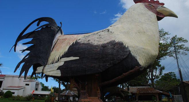 The outside of the (giant) chicken in Manukan, Philippines
