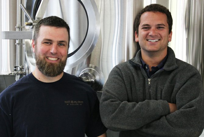 Societe Brewing Co. owners and brewers Travis Smith (left) and Doug Constantiner.