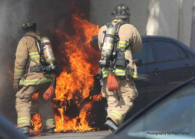 Vehicle fire in Old Town, San Diego. #3