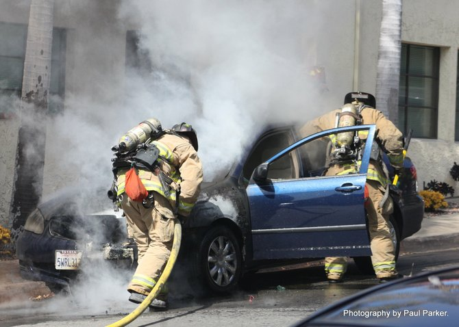 Vehicle fire in Old Town, San Diego. #4