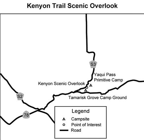 Bill Kenyon Overlook Trail map