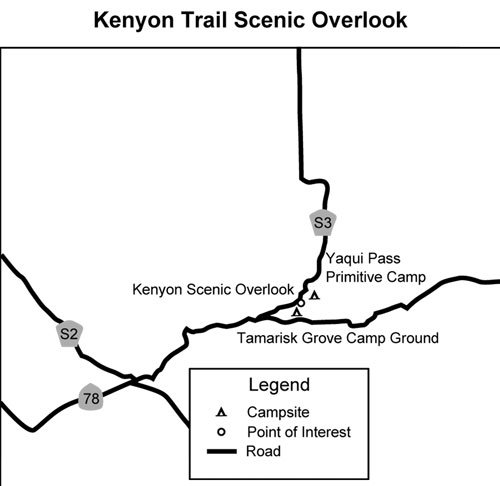 Bill Kenyon Overlook Trail map