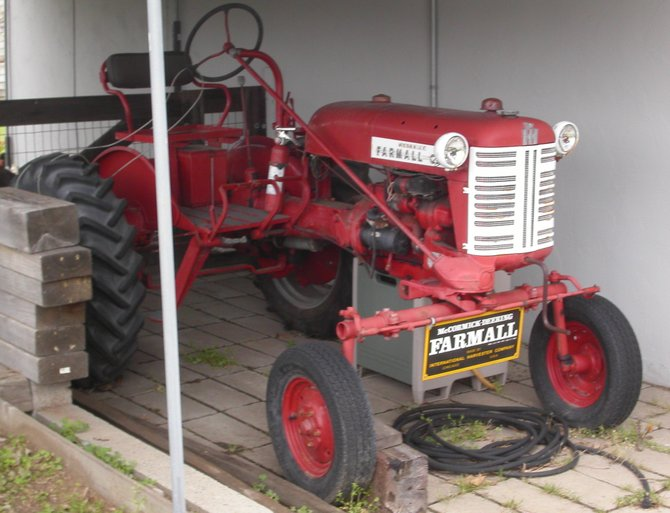 swede's 1956 farm tractor in clairemont yard