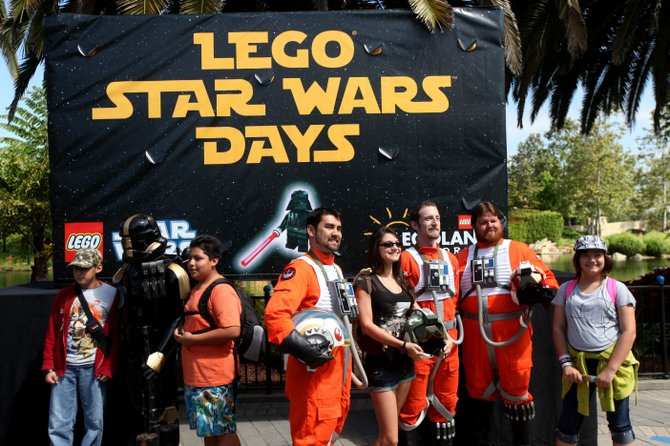 Fans interact with the 501st Rebel Legion during Star Wars Days at LEGOLAND.