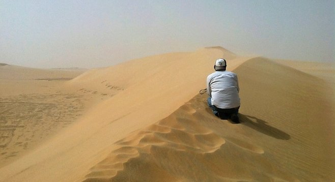 Looking out into nowhere: the vast, empty expanse of Saudi Arabia's Arabian Desert